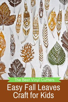Today we share with you what you will need for this easy fall leaves craft tutorial. Don't have any leaves in your backyard? Don't worry I also have some ideas of how you create your own leaves from cardstock as well.This craft is so easy that even 2-year-old kids can have a go at it, and it is so fun that you might find yourself painting a few beautiful leaves filled with intricate patterns yourself. #fallcraftforkids #fallleavescrafts