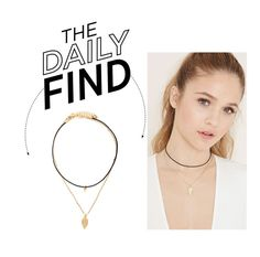 """The Daily Find: Forever 21 Feather Choker Set"" by polyvore-editorial ❤ liked on Polyvore featuring Forever 21 and DailyFind"