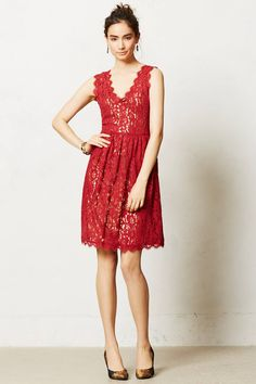 Melusine Dress - anthropologie.com.  For dressed-up time... love the rich color.