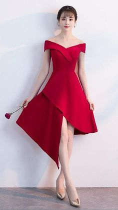 Short Red Prom Dresses, Simple Homecoming Dresses, Simple Prom Dress, Short Prom, Formal Dresses, Lace Evening Dresses, Custom Dresses, Ladies Dress Design, Cheap Dresses