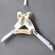 personalised engraved banner wedding hanger by clouds and currents | notonthehighstreet.com