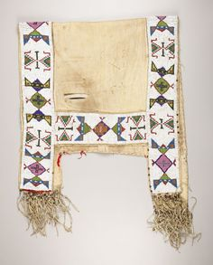 Find out with our FREE auction evaluation or view our current and previously auctioned artwork at Heritage Auctions. Native American Horses, Native American Artwork, Native American Beadwork, American Indian Art, Horse Gear, Horse Tack, Indian Horses, Saddle Blanket, Sioux