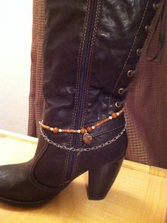 Boot anklet in brown by KayalaNSandy on Etsy, $12.50
