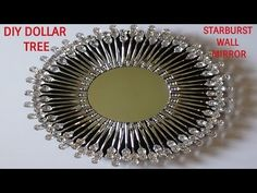 GLAM DIY DOLLAR TREE STARBURST WALL MIRROR - YouTube