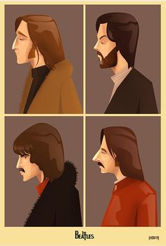 The beatles FanArt Poster Beatles One, Beatles Funny, Beatles Poster, John Lennon, Music Illustration, Music Images, The Fab Four, Concert Posters, Music Bands