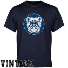 c3ed938fcfeb0b Butler Bulldogs Navy Blue Distressed Logo Vintage T-shirt -  17.95 Nascar  Merchandise