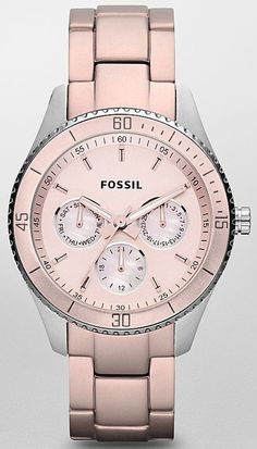 #Fossil #Watch , Fossil Stella Aluminum and Stainless Steel Watch Blush