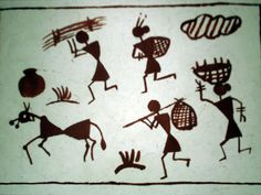 warli paintings images - Google Search Drawing For Kids, Art For Kids, Dress Painting, Images Google, African American Art, Aboriginal Art, Tribal Art, Preschool Crafts, Painting Techniques