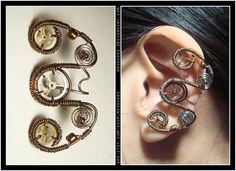 Steampunk Curly ear cuff by Meowchee