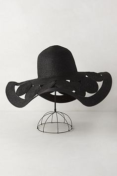 Frond Furl Sun Hat  anthropologie this isn t a typical black floppy hat 5728d96cb66