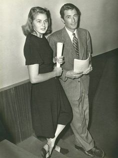 Ingrid Bergman and Gregory Peck Old Hollywood Stars, Old Hollywood Glamour, Golden Age Of Hollywood, Vintage Hollywood, Classic Hollywood, Gregory Peck, Ingrid Bergman, Classic Movie Stars, Classic Movies
