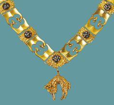 Order of the Golden Fleece, to be seen on every image of emperor Maximilian I Order of the Golden Fleece // Ordre de la Toison d'or // Orden vom Goldenes Vlies Wien Schatzkammer Vienna Kunsthistorisches Museum