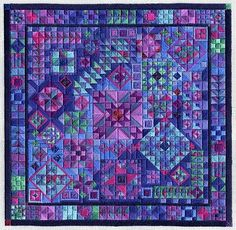 "Needlepoint, believe it or not. Designed and worked by Laura J. Perin. Gorgeous! (about 9"" x 9"")"