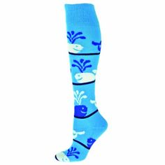 ec648fbba53 Whales All Sport Socks Animal   Animal Print Sport Socks - Knee High Fun  and crazy whale design on