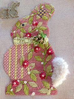 Love this bunny, Melissa Shirley needlepoint canvas