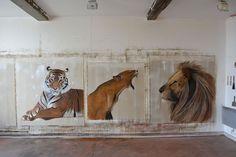 A  l`atelier-lionne-tigre-du-Bengale-royal-LION