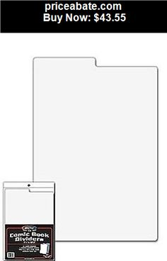 Collectibles: Lot of 100 BCW Tabbed White Plastic Comic Book Box Dividers - 7 1/4 X 10 3/4 - BUY IT NOW ONLY $43.55