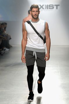 2XIST FASHION SHOW / 2016 SUMMER COLLECTION PART 1 WITH IGNACIO ONDATEGUI, PARKER GREGORY, ANDRE ZIEHE, BART GRYBOWSKI. ANDREA DENVER & WALTER SAVAGE, | MALE MODELS OF THE WORLD