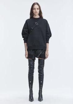 9dc4de314df Alexander Wang Fleece Sweatshirt - Black S