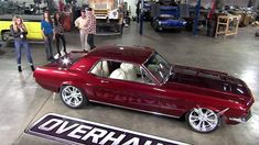 Tears Of Joy From Amber Heard: 1968 Mustang Overhaulin' With Johnny Depp and Chip Foose - Muscle Car Red Mustang, 1968 Mustang, Mustang Cars, Mustang Gt500, Shelby Mustang, Shelby Gt500, Ford Mustangs, Chip Foose, Amber Heard