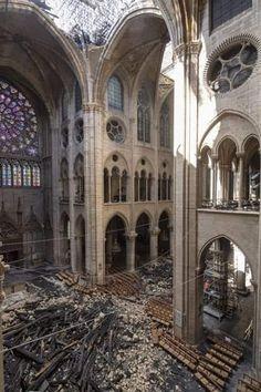 of April Notre Dame Cathedral after the blaze. Abandoned Buildings, Abandoned Places, Architecture Classique, Sacred Architecture, Fantasy Castle, Cathedral Church, Tour Eiffel, Paris Travel, Kirchen