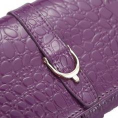 Portfel Nucelle z paskiem w kolorze fioletowym