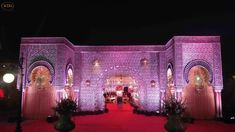 Wedding Setups and Fiber Decoration Accessories Manufacturer - Wedding Design Hub Wedding Gate, Wedding Entrance, Wedding Mandap, Wedding Set Up, Entrance Decor, Wedding Events, Indian Wedding Stage, Wedding Stage Design, Wedding Stage Decorations
