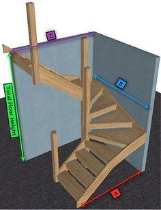 Oak open Staircase> 6 kite Winder Stair & Posts