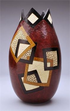 Geometric Gourd by Dianne Connelly