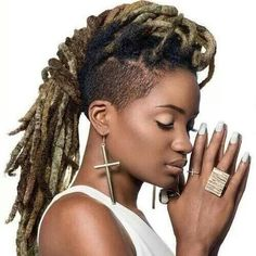 Image result for mohawk with soft dreads