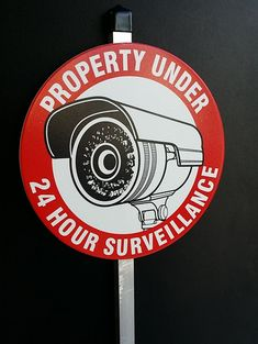 Camera Security Sign with Aluminum Stake by SecuritySigns on Etsy