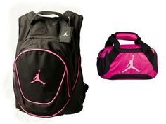 bf96b1cbc2 Amazon.com: Nike Air Jordan Jumpman Backpack & Insulated Trainer Lunch Tote  Bag Set