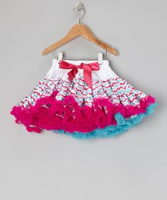 Take a look at this Pink & Blue Zigzag Pettiskirt - Toddler & Girls by Royal Gem Clothing on #zulily today!