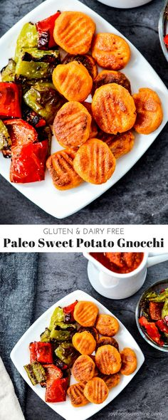 Paleo Sweet Potato Gnocchi Recipe! Made with only 6 ingredients! Gluten-free & Dairy-free!