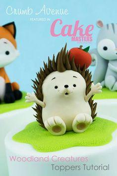 Hedgehog Hedgehog Cake, Hedgehog Birthday, Cake Dutchess, Marzipan Cake, Woodland Cake, Cake Design Inspiration, Fondant Animals, Cake Supplies, Fondant Tutorial