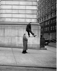 """mpdrolet: """"Man Leapfrogging, 1999 Geof Kern """""""