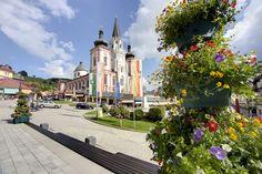 #Basilika in #Mariazell mit Blumenschmuck