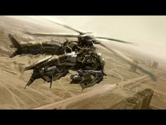 Twin-rotor attack helicopter