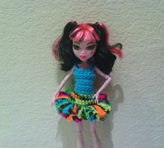 Monster High Doll Clothes Aqua Blue and Bright by CraftsByCali, $5.00