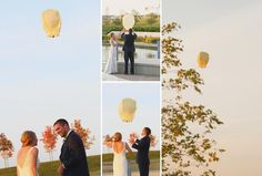Chinese Lantern during ceremony-for loved ones in heaven. Dress: Allure 8856 and Fine Edge Photography. Ceremony: Ramsey, MN