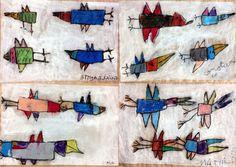 les petites têtes de l'art. Les oiseaux de Karel Appel