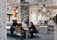 Very cool office space for Bartle Bogle Hegarty (BBH)