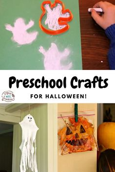These cute Halloween crafts are super easy, and will have your toddler or preschooler entertained for hours! Crafting is such a great way to develop children's fine motor skills and hand eye coordination. Easy Halloween Crafts, Cute Halloween, Halloween Themes, Easy Crafts, Crafts For Kids, Shaving Cream Art, Lantern Crafts, Ghost Crafts, Pine Cone Crafts