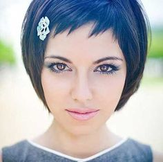 Girl with Undercut Short Haircut Bob-Hair-with-Bangs-