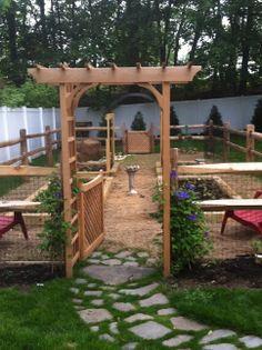 Vegetable garden created summer 2013.