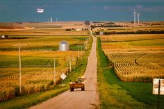 A Nebraska lawmaker says wind farms, like this one near the town of Elgin, can help rural communities stave off economic decline.