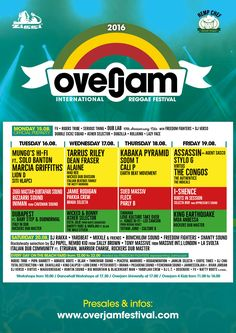 Overjam 2016 daily program