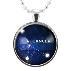 Cancer Zodiac Necklace, Constellation Jewelry, Astrology Star Sign Pendant