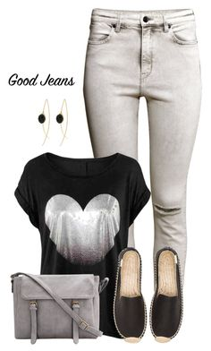 """""""Sem título #661"""" by soleuza ❤ liked on Polyvore featuring H&M, Soludos and highwaistedjeans"""