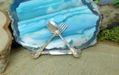 Vintage Sterling Silver Flatware Brooch; Spoon, Fork & Knife!! #Unbranded